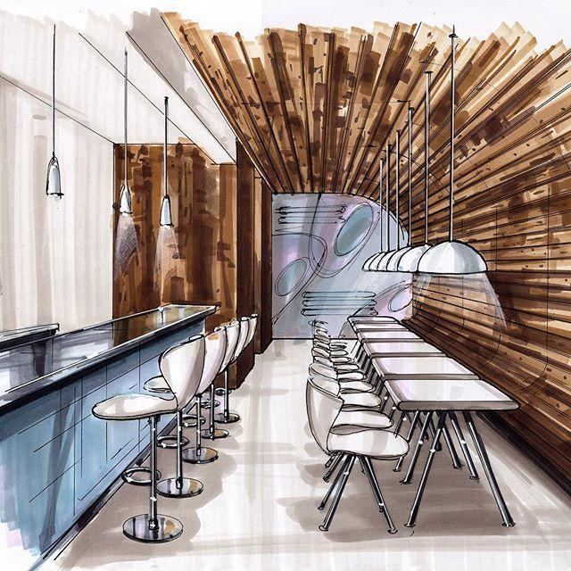 #marker #sketch #comercial #interiordesign #visualization #copic