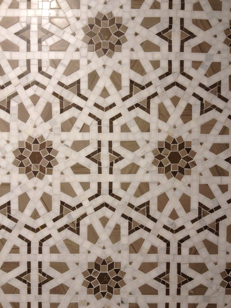 Play with Patterns and Prints. Walker Zanger 's Granada tile.