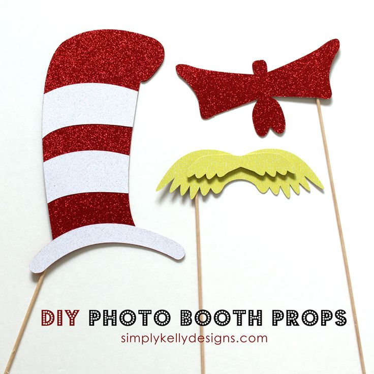 DIY Dr. Seuss Photo Booth Props and Silhouette Portrait Giveaway | Simply Kelly Designs