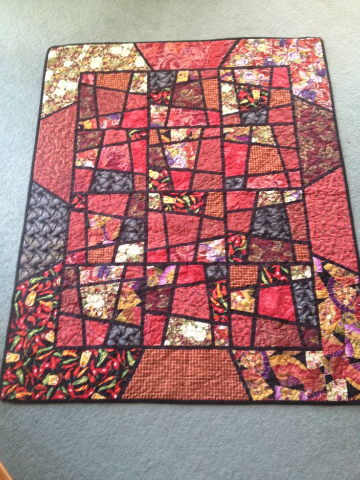 This is the very first quilt I ever made. It is what got me hooked.