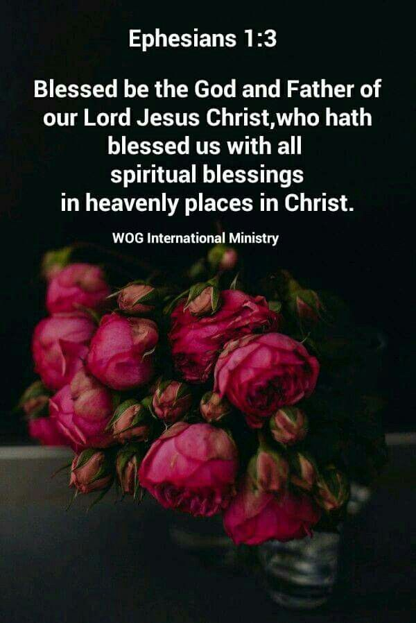 """""""Blessed be the God and Father of our Lord Jesus Christ, who has blessed us with every spiritual blessing in the heavenly places in Christ,"""" Ephesians 1:3 NKJV"""