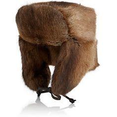 Crown Cap Men's Fur Trapper Hat ($995) ❤ liked on Polyvore featuring men's fashion, men's accessories, men's hats, neutral, mens fur trapper hat, mens flat hats, mens hats and mens trapper hat