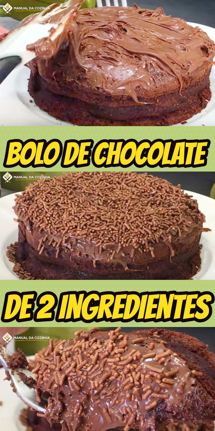 BOLO DE 2 INGREDIENTES – MUITO RÁPIDO E ECONÔMICO #bolodechocolate #bolo #nutella #brigadeiro #receita #receitafacil #receitas #comida #food #manualdacozinha #aguanaboca #alexgranig