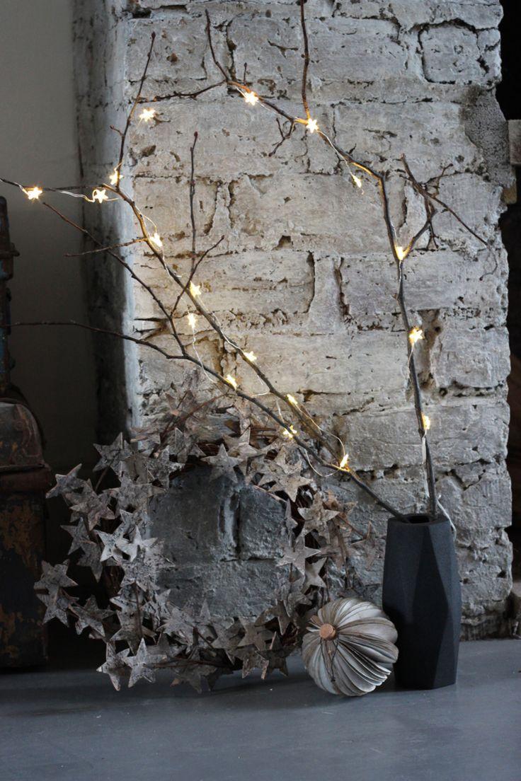 festive branches - christmas decor   Shop at www.aprilandthebear.com/ Read the DIY blog at www.aprilandthebear.com/blog