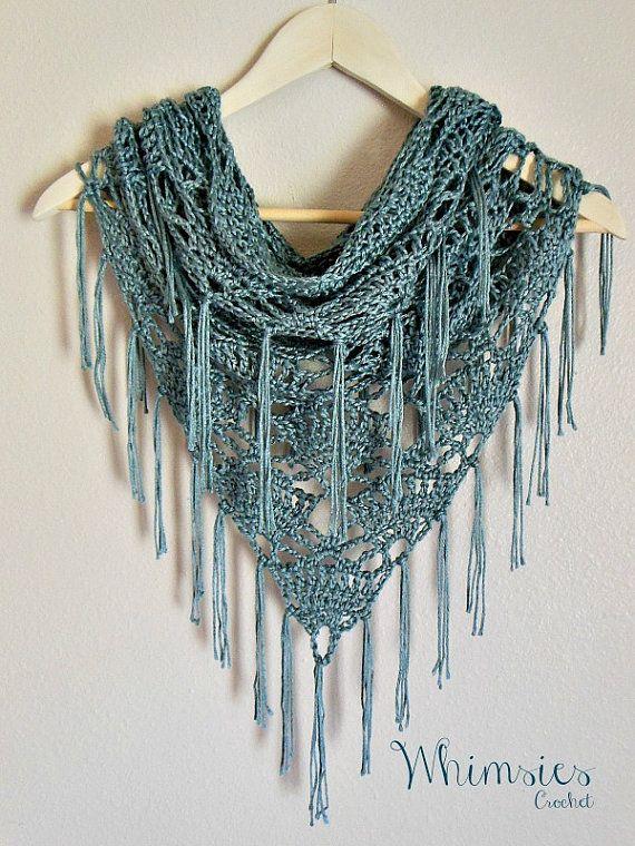 Free Triangle Infinity Scarf Crochet Pattern : Fringe Cowl, Infinity Cowl, Triangle Scarf, Circle, Scarf ...