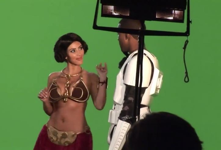 Kim Kardashian en costume de Princesse Leia