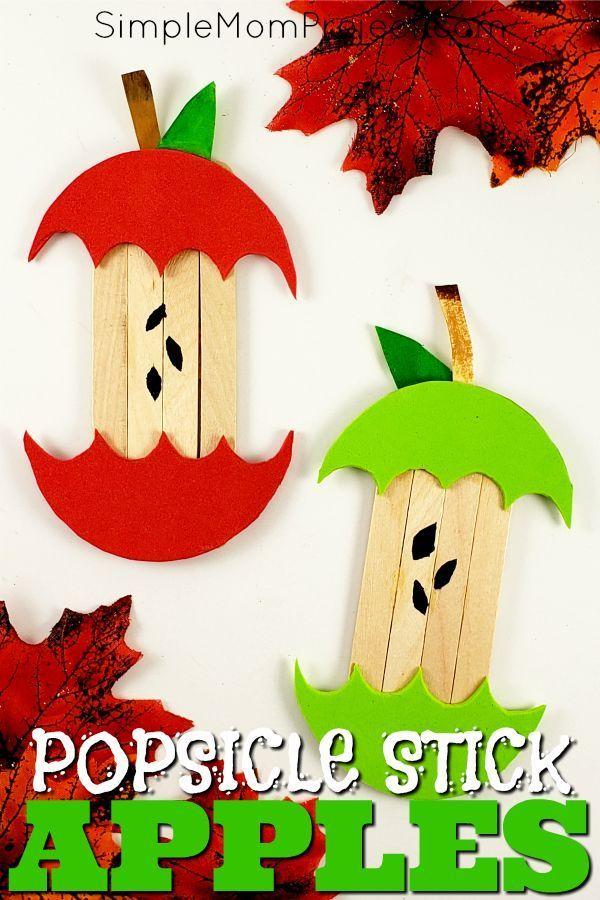 Incroyable 20+ facile DiY Halloween bâton de Popsicle Craft pour les enfants #Basteln #cr …