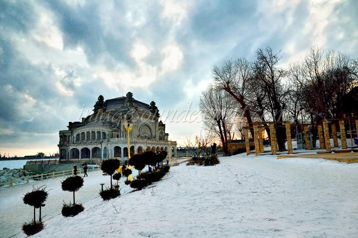 Casino Constanta im Winter, Casino Constanta in the winter, Casino de Constanta en hiver, Cazino Constanta iarna, Fotografii arhitectura, Fotos Architektur, Photos architecture