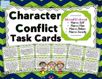 Character Conflict Task Cards { Types of Conflict Task Car