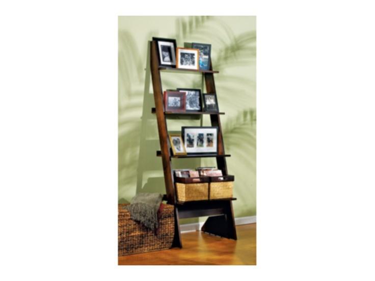 Arts U0026 Crafts Chocolate Single Leaning Bookcase   Value City Furniture