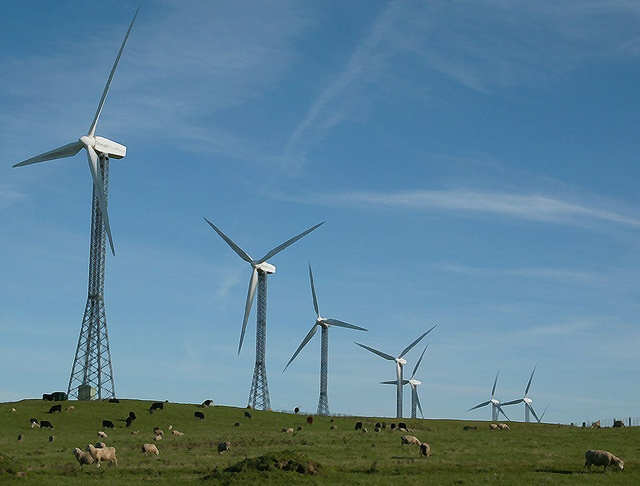 Wind farm at the top of the Tararua Ranges above Palmerston North.     Spend Less Using  Eco-friendly Power From The Sun