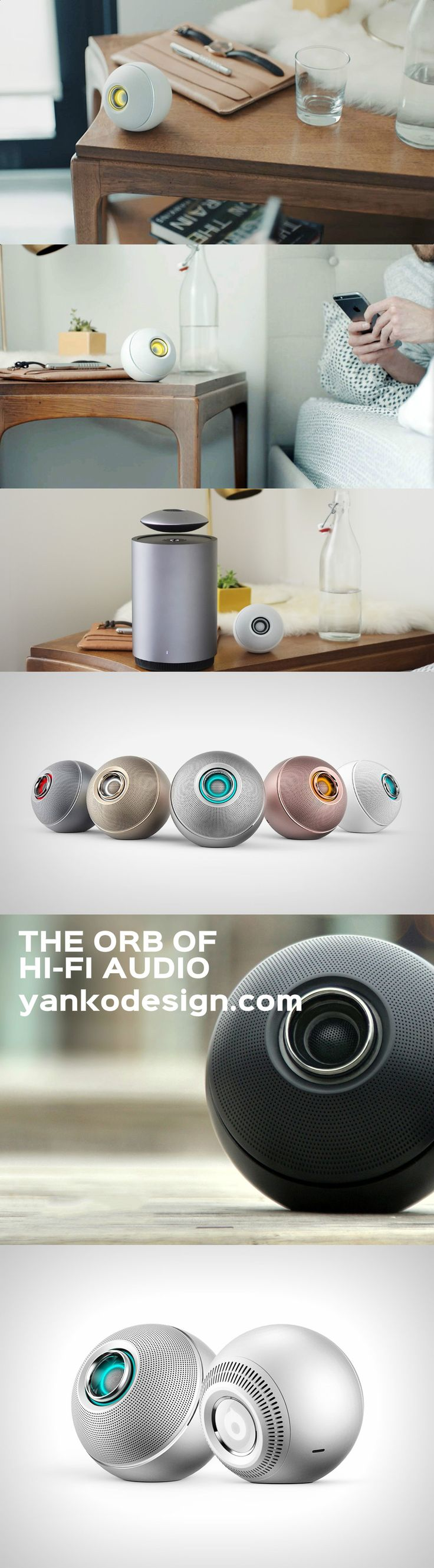 Not only does it pack a punch in the sound department, it also can be paired with more of its kind to create a network of audio devices that can stream from a single source. www.yankodesign.com