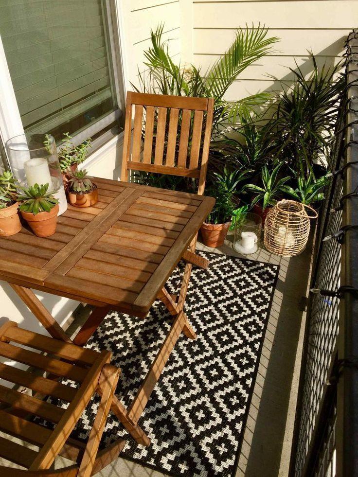 +23 Wir lieben einzigartige kleine Balkonideen Apartment Ikea Patio – Home Decors – Garten & Balkon ♡ Wohnklamotte
