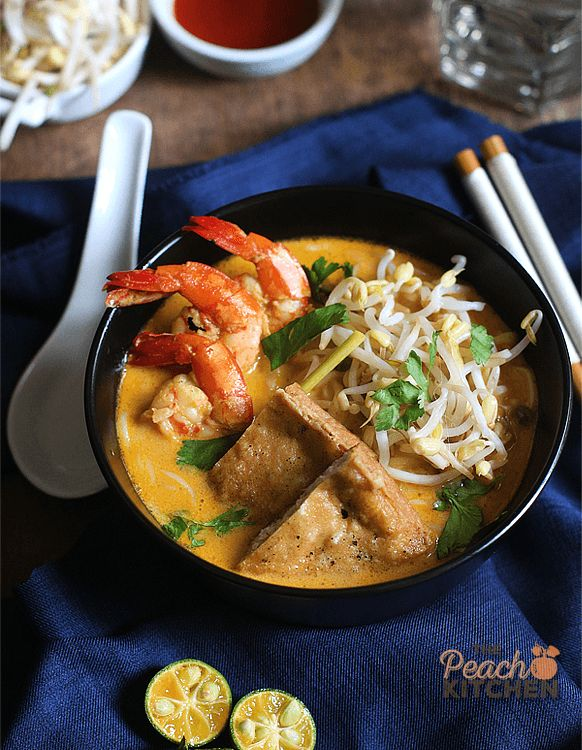 This Prawn Laksa is a perfect blend of creamy coconut milk, prawns, spices and the freshest ingredients. And it's easy to make at home.