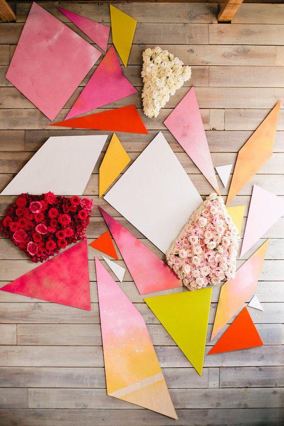 Kaleidoscope geometric Photo Booth backdrop