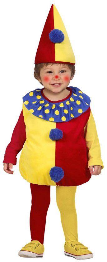 """""""Kleurrijk clown kostuum voor mannen kinderen  - Kinderkostuums - 86/92"""""""
