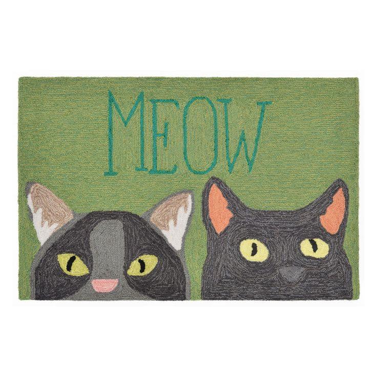 Liora Manne Frontporch 1821/06 Meow Indoor / Outdoor Door Mat - FTP12182106