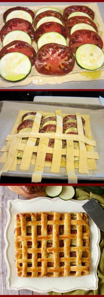 Zucchini Tart Pinterest'te | Zucchini, Tartlar ve Domatesler hakkında ...