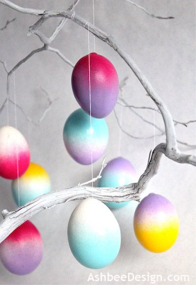 DIY Ombre Easter Egg Tutorial by Ashbee Design