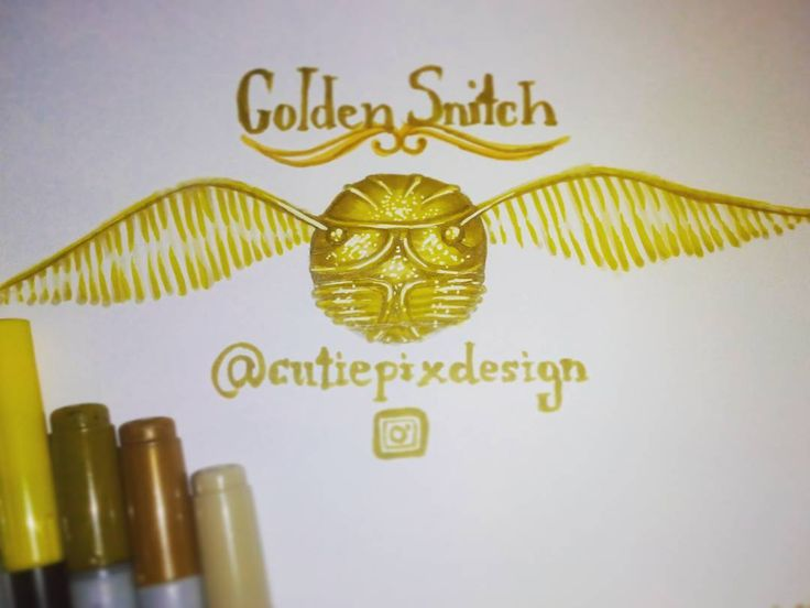 . Just a small #fanart (just for fun) But I make I stupid mistake :S (hope nobody will see it :D ) . Drawn with #copics . ~~~~~~~~~~~~~~~~~~~~~~` #cutiepix #cutiepixdesign #draw #drawing #sketch #doodle #copicmarker #thegoldensnitch #thesnitch #snitch #schnatz #harrypotterdrawing #harrypotter #fanartmovie #harrypotterfanart #snitchdrawing #snitchart  #iopenattheclose  #openattheclose #harrypotterart #harrypotterdraw #hermionegranger #ronweasley #voldemort #dumbeldore #severussnape #quidditch