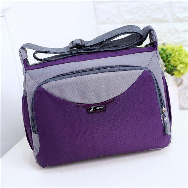 Women Men Nylon Shoulder Bags Outdoor Sports Crossbody Bags Messenger Bags