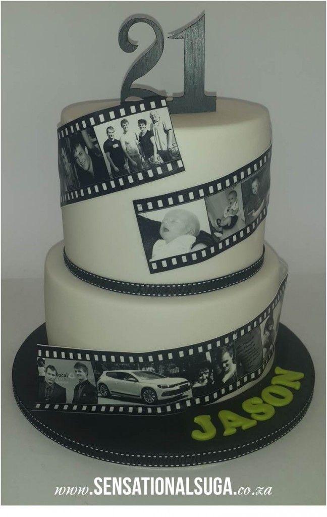 21st Film Strip Cake