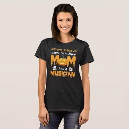 #Mom And MUSICIAN - Halloween Costume Orange Shirts - #halloween #party #stuff #allhalloween All Hallows' Eve All Saints' Eve #Kids & #Adaults