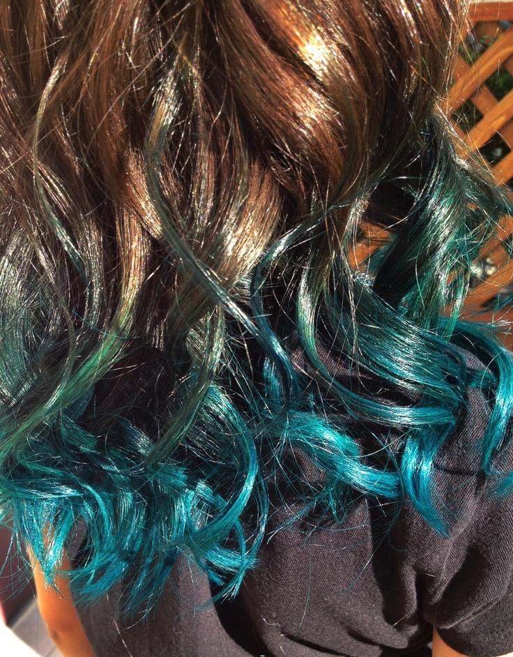 Peacock Ombr Long Hair Pinterest Of Beautiful Peacock Hair - Peacock hairstyle color
