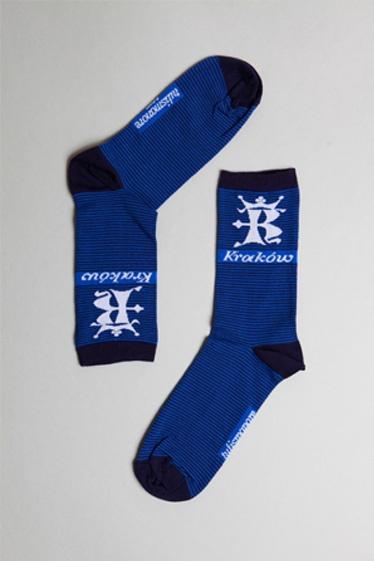 Tulismanore.com | socks | Kraków stripes Navy