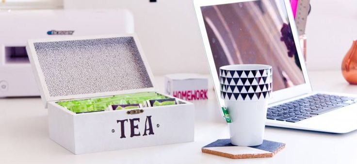 Drink a lot of tea? Keeping all of the teabags in their individual cardboard boxes can make a cluttered mess. This upcycled DIY tea storage box from MMP Hobby is a fantastic solution, and all it requires is glue, paint, gift wrapping and a plain wooden box from your favorite hobby shop.   - HouseBeautiful.com