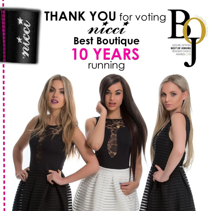 THANK YOU!! For voting #NICCI BEST BOUTIQUE 10 #years running!! #BOJ #Nicci10 #boutique #fashion #style