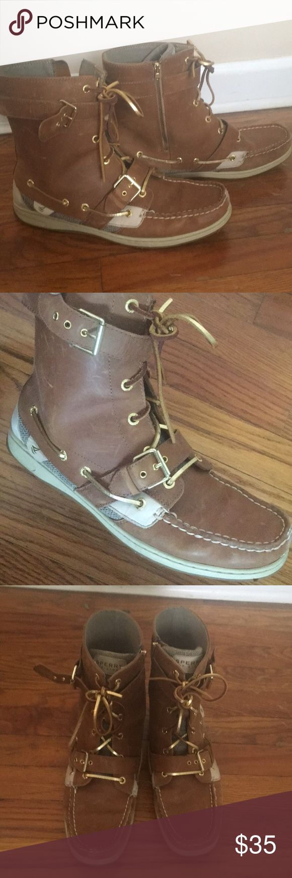 Sperry Top-Sider Boot Leather with side zipper Sperry Top-Sider Shoes Combat & Moto Boots