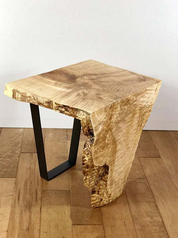 Best Sold Live Edge Maple Wood Waterfall End Table Modern Wood 640 x 480