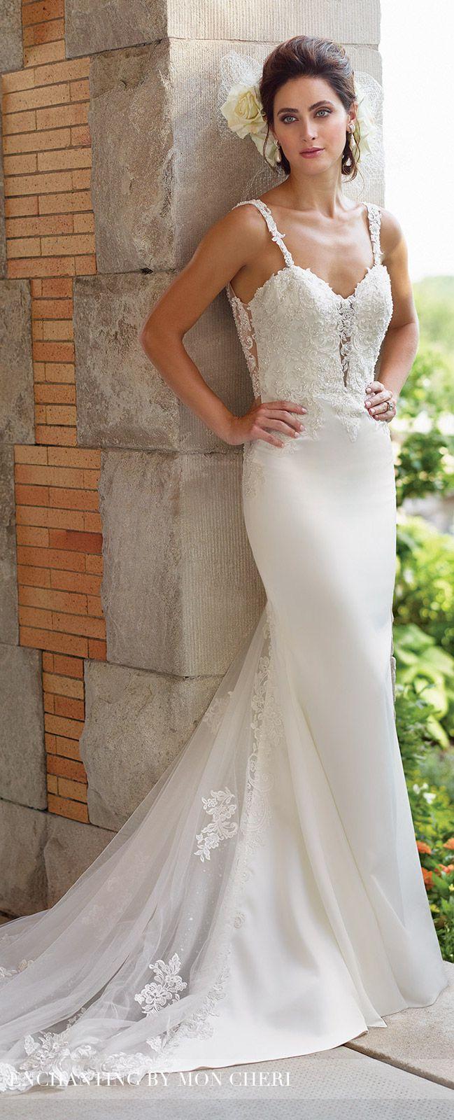 Plunging Neckline Wedding Dress -Enchanting by Mon Cheri Spring 2017