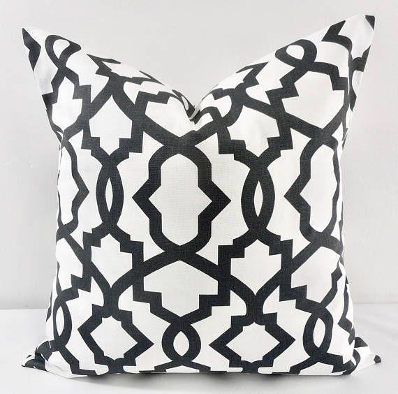 Farmhouse Pillow Cover Black White Pillow Cover Etsy White Pillow Covers Etsy Pillow Covers White Pillows