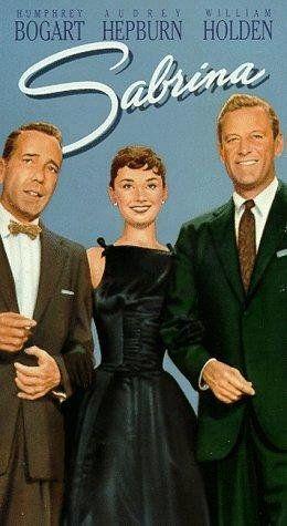 *SABRINA, (1954) Poster:  Humphrey Bogart, Audrey Hepburn, William Holden.- Nótese lo que *hablan* las posturas corporales. En la foto se la ve a Audrey más cerca y pegada a su compañero William Holden. Se supo con los años que ellos se enamoraron en ésa filmación...