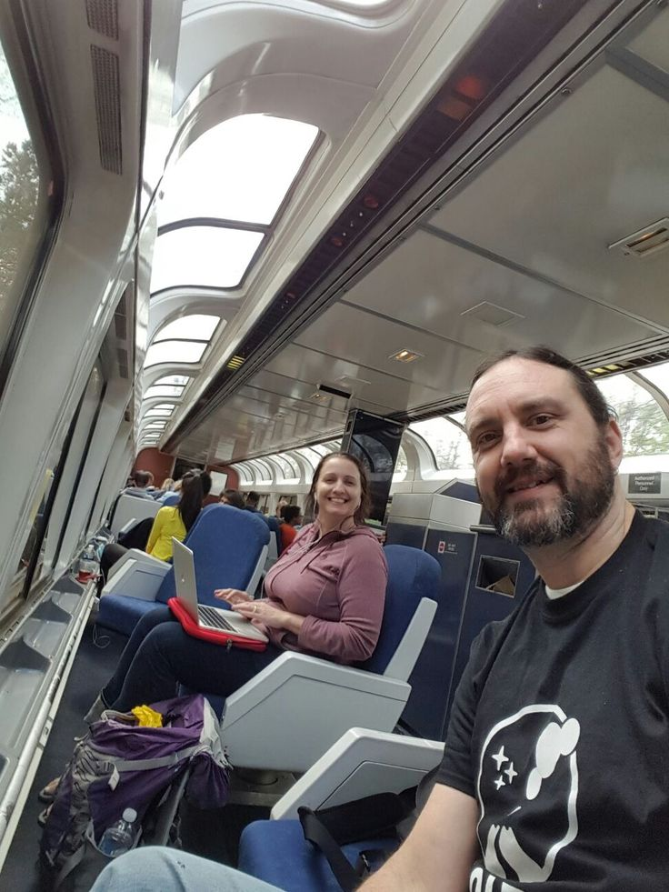 Working on the train