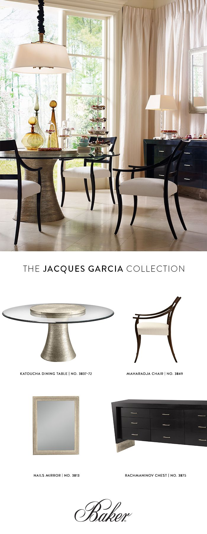 79 best the jacques garcia collection images on pinterest baker freshen up your dining room table chairs and more 15 off baker furniture