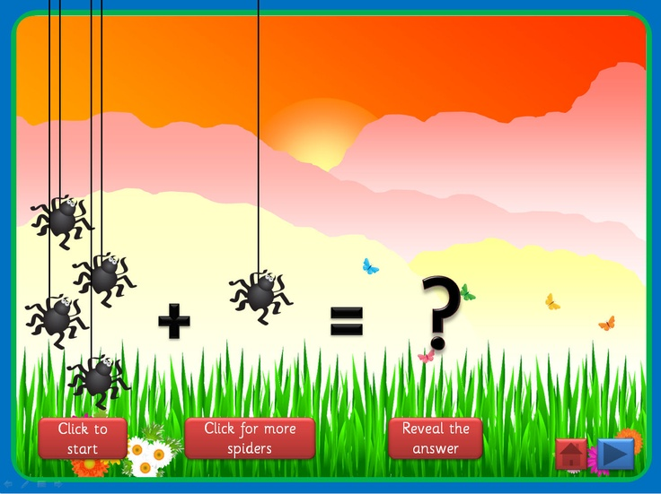 Basic Addition PowerPoint, with a minibeast theme, that uses motion paths, triggers and action buttons. Can be used in a number of ways, with young children or those with special educational needs, and full instructions are included. Offers plenty of opportunity for discussion and mathematical vocabulary. Could be used as a whole class, small group or 1:1 activity