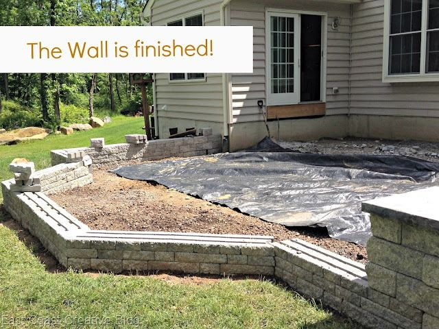 Finished Wall, how to build a patio