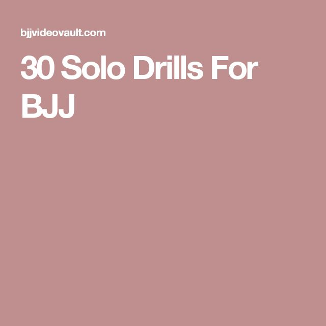 30 Solo Drills For BJJ