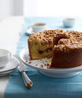 Cherry Walnut Crumb Cake