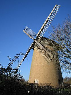 Knowle Mill, better known today as Bembridge Windmill, is a preserved tower mill at Bembridge, Isle of Wight, England. Bembridge Mill was built c. 1700. It was painted by Turner in 1795. The mill was working by wind until 1913, having only been used for grinding animal feed after 1897. The mill was restored in 1935 & again in 1959, the latter restoration being funded by public subscription. In 1962 the mill was taken over by the National Trust.