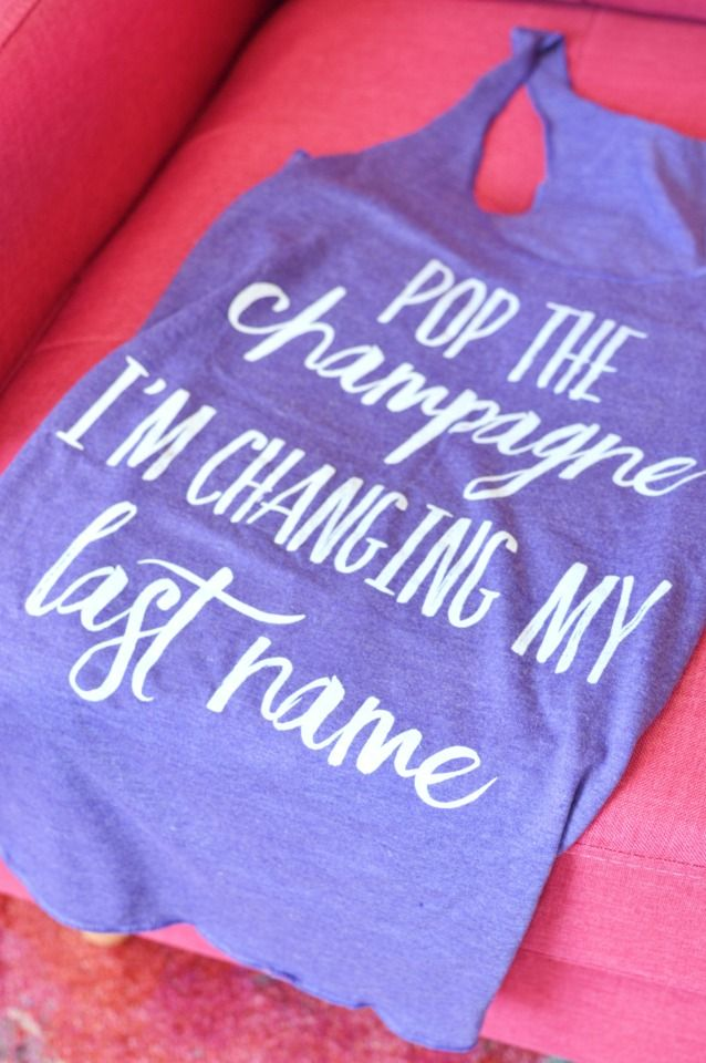 pop the champagne I'm changing my last name tank top from The Ring Boxes