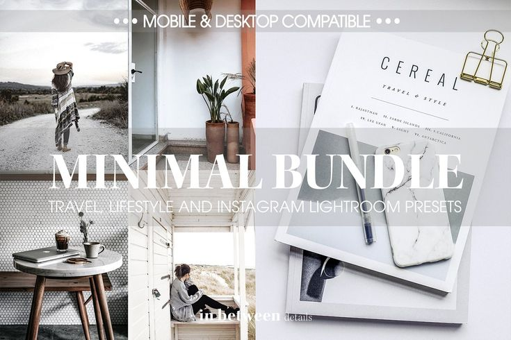 Minimal Bundle Lightroom Presets ~ Photoshop Add-Ons ~ Photoshop Actions ~ Light…