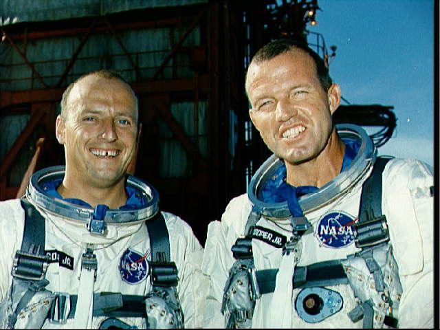 NASA Gemini Missions - Gemini 5 with C. Gordon Cooper as the commander and Pete (Charles) Conrad, Jr as the pilot.