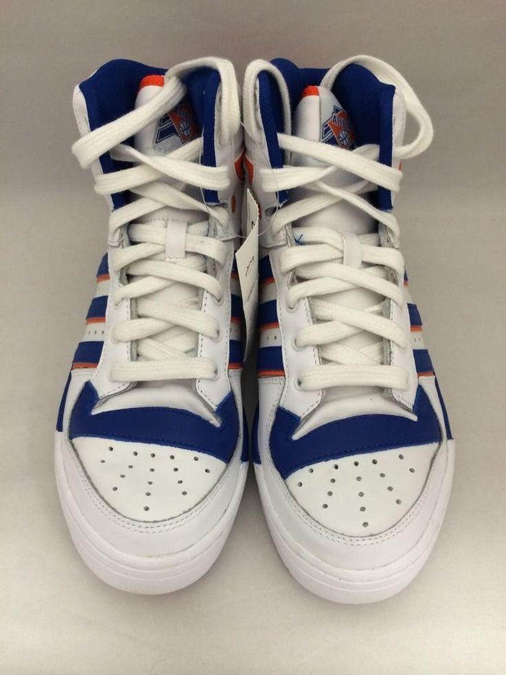 Size 8 5 Men's Adidas Attitude Hi Originals D73897 Royal Orange White Athletic | eBay
