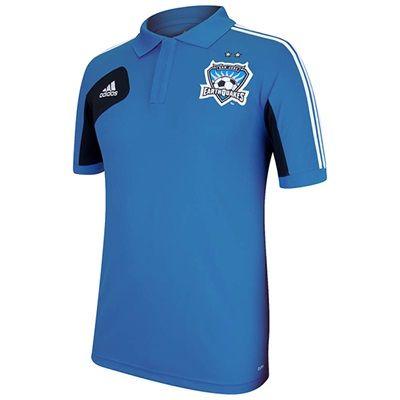 San Jose Earthquakes Climalite Polo Blue: San Jose Earthquakes Climalite Polo BlueWhether you're… #Sport #Football #Rugby #IceHockey