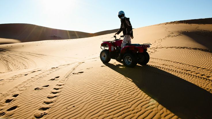 Explore the largest sand dunes in the world on a quad-bike safari in Namibia #adventuresafari #namibia