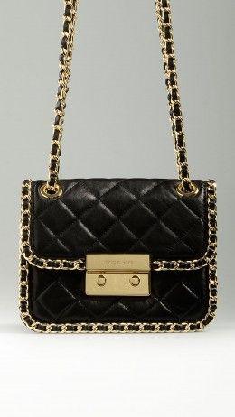 Black Carine leather shoulder bag
